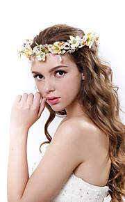 Women's Polyester / Fabric Headpiece-Wedding / Special Occasion Handmade Beads Flowers Birdal Wreaths 1 Piece