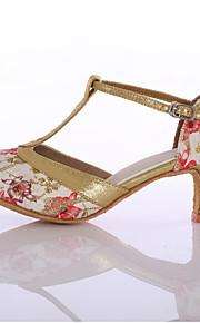 Zapatos de baile(Azul / Rojo) -Latino-Personalizables-Tacón Personalizado