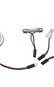 1stk høj lysstyrke 10w cob førte bil interiør LED-lampe 99% bilmodeller egnede