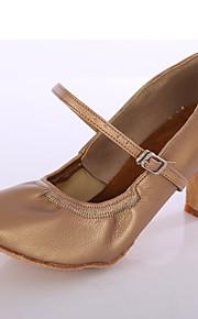 Sapatos de Dança(Preto / Marrom / Branco / Prateado) -Feminino-Personalizável-Latina