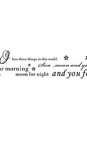 Sun Moon AND You Words & Quotes Wall Stickers Decorative Wall Stickers,Vinyl Material Removable Wall Decals