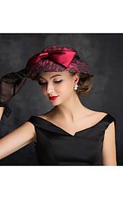 Women's Lace / Flax / Net Headpiece-Outdoor Hats 1 Piece Clear Irregular 25