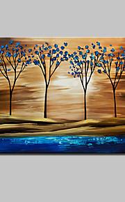Dipinta a mano Astratto / Paesaggi astratti Dipinti ad olio,Modern Un Pannello Tela Hang-Dipinto ad olio For Decorazioni per la casa
