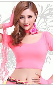 Dance Accessories Neckwear Women's Spandex Flower(s) 1 Piece Peach Belly Dance Short Sleeve Natural Neckwear