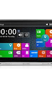2 din 8 inch 800 * 480 auto dvd-speler met gps navi radio in het dashboard ingebouwde 3G-wifi bt ipod / iphone swc usb / sd