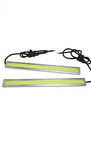 2 pares 6w 17cm mazorca diurna de la luz corriente CC 12V luz del día el estilo del coche a prueba de agua