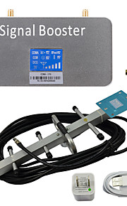 LCD Display CDMA 850MHz Mobile Signal Repeater Booster Amplifier with Whip and Yagi Antennas Grey