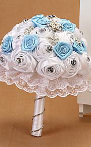"""Bouquets de Noiva Redondo Rosas Buquês Casamento Poliéster 7.87""""(Aprox.20cm)"""