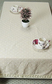 New Dandelion Cotton Cloth Tablecloths for Side Table (140 * 140cm)