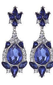 Forme Géométrique,Bijoux 1 paire Vintage Bleu Alliage / Strass / Plaqué or Mariage / Soirée / Quotidien / Décontracté