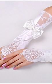 До локтя С открытыми пальцами Перчатка Нейлон Свадебные перчатки Весна / Лето / Осень Банты