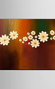 Ready to Hang Stretched Frame Hand-Painted Flower Oil Painting Wall Art Restaurant Decor