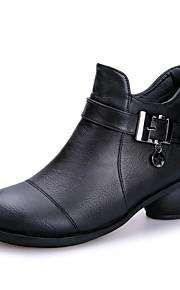 Sapatos de Dança(Preto / Marrom / Vermelho) -Feminino-Não Personalizável-Moderna / Botas de dança
