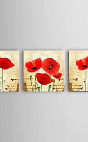Hånd-malede Abstrakt / Landskab / Still Life / Fantasi / Blomstret/Botanisk Oliemalerier,Moderne / Parfumeret / Europæisk Stil Tre Paneler