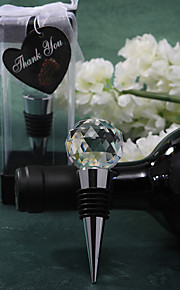 Acrylic Crystal Ball Design Chrome Bottle Favor-1Piece/Set Wine Bottle Stoppers Classic Theme Non-personalised Silver