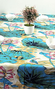 Fluid Systems Chinese Ink Painting Style Lotus Pond Side Table Cloth (140 * 140cm)