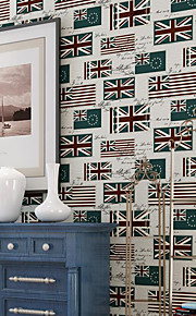 High Quality United Kingdom Vintage Classic Non-Woven Printed Mural Wallpaper Living Room Background Wall Paper