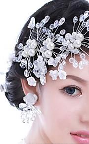 Women's Alloy Headpiece-Wedding Flowers 1 Piece White