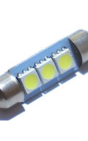 20st 36mm 39mm 41mm slinger 3 SMD 5050 DC12V kentekenplaat koepel binnenverlichting ledlamp auto LED lamp parkeerplaats