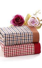 "1 PC Full Cotton Wash Towel 12"" by 13"" Super Soft Plaid Pattern"