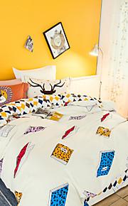 Books 800TC bedding sets Queen King size Bedlinen printing sheets pillowcases Duvet cover sanding Cotton Fabric