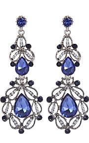Forme Géométrique,Bijoux 1 paire Vintage / A la Mode Blanc / Bleu Cristal / Strass / Plaqué or Mariage / Soirée / Quotidien / Décontracté
