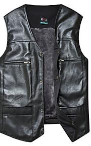 남성의 자켓 퓨어 민소매 캐쥬얼 폴리에스테르,블랙