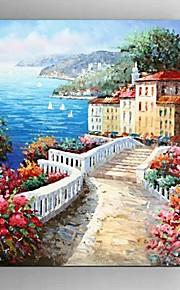 Dipinta a mano Astratto / Paesaggi / Natura morta / Fantasia / Paesaggi astratti Dipinti ad olio,Modern / Mediterraneo / Pastorale /