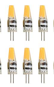 6 G4 LED-lamper med G-sokkel T 1 COB 450 lm Varm hvid / Kold hvid Dekorativ AC 12 V 10 stk.