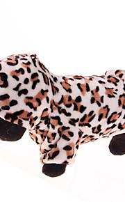 Perros Saco y Capucha Marrón Café Invierno Leopardo Leopardo / Mantiene abrigado, Dog Clothes / Dog Clothing-Other