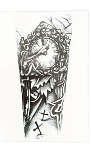 1pc Temporary Women Men Body Art DIY Waterproof Clock Grave Cross Flower Arm Leg Tattoo Sticker HB-035