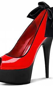 Homme-Mariage / Habillé / Soirée & Evénement-Noir / Rouge / Bordeaux / Noir et rouge-Talon Aiguille-Talons / Bout Ouvert-Chaussures à