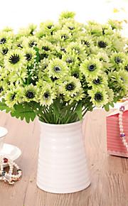1pc 1 ענף פוליאסטר / פלסטיק חינניות פרחים לשולחן פרחים מלאכותיים 13.3inch/34CM