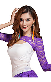 Belly Dance Tops Women's Training Tulle Lace 1 Piece White Belly Dance Sleeveless Natural Top