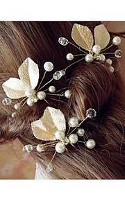 Dame Legering Headpiece-Bryllup Hair Stick 1 Deler Gull Blomst 45cm
