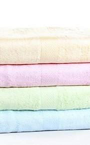 "1 PC Bamboo Fiber Bath Towel 27"" by 55"" Super Soft Solid Multicolor"