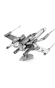 Rompecabezas Puzzles 3D Bloques de construcción Juguetes de bricolaje Aeronave 1 Metal Plata juguete del juego