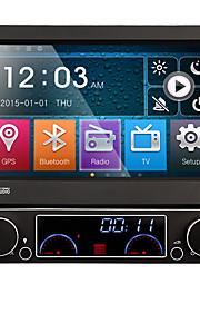 1 din 7 '' tft lcd hd touch screen auto dvd-speler met gps navi radio in het dashboard ingebouwde 3g wifi bt swc mirror-koppeling