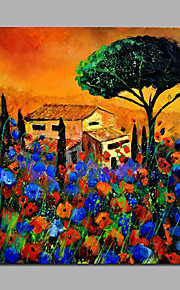 Home Among Flowers Artwork Painting  Canvas Ready To Hang Stretchered