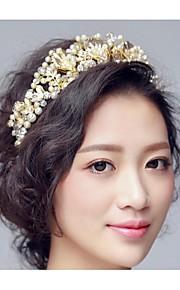 Dame Legering Headpiece-Bryllup Diademer 1 Deler Gull Annerledes 48cm