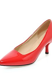 Women's Heels Summer / Fall Heels / Pointed Toe Patent Leather Office & Career / Casual Cone Heel OthersBlack / Blue /