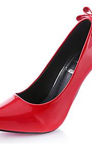 Homme-Mariage-Noir / Violet / Rouge / Gris-Talon Aiguille-Talons-Chaussures à Talons-Cuir Verni