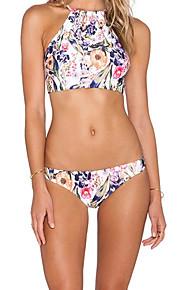 De las mujeres Bikini-BohoCon Cordones-Poliéster