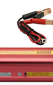 energía del coche 300w 12v inversor de conversión automática a 220V con el ventilador&USB