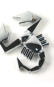 adesivi per auto in metallo scorpione, accessori per auto