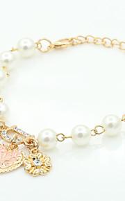 Chaînes & Bracelets / Charmes pour Bracelets 1pc,A la Mode / Vintage / Bohemia style / Adorable / PersonnalitéForme Ronde / Forme de