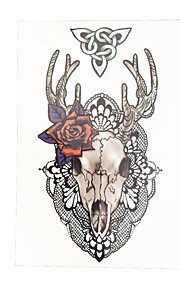 1pc Flower Arm Sleeve Waterproof Temporary for Women Men Sheep Angle Body Art Tattoo Sticker HB-044