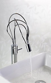 Contemporáneo / Arte Decorativa/Retro / Modern Pot Filler Lavabo amplia de spray with  Válvula Cerámica Sola manija Un agujero for  Cromo