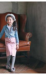 Mädchen Kleid-Ausgehen einfarbig Polyester Frühling / Herbst Schwarz / Rosa