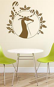 Рождество / Праздник Наклейки Простые наклейки Декоративные наклейки на стены,PVC материал Съемная Украшение дома Наклейка на стену
